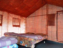 Interior Swiss tent