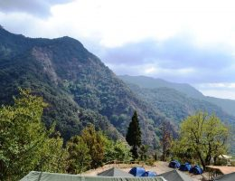 View From Swiss tents